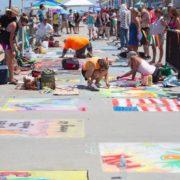 Virginia Beach Hotels art chalk oceanfront