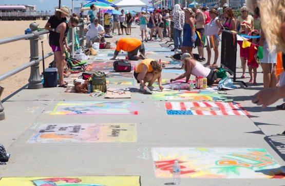 Virginia Beach Oceanfront Chalk The Walk Artsplosion
