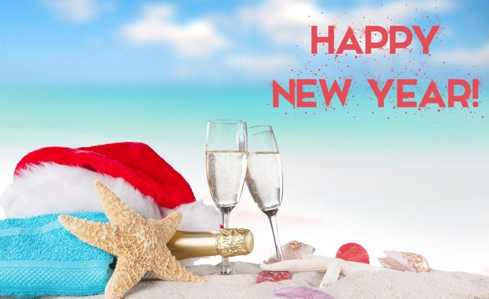 happy new year come celebrate at the beach