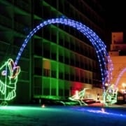 Oceanfront hotel in Virginia Beach - holiday lights special