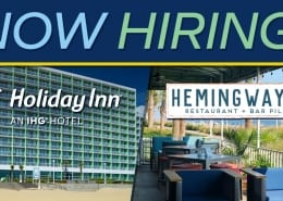 🎉Holiday Inn Oceanside and Hemingway's Restaurant at the Virginia Beach Oceanfront are hiring for immediate openings, full time, part time and seasonal employment.